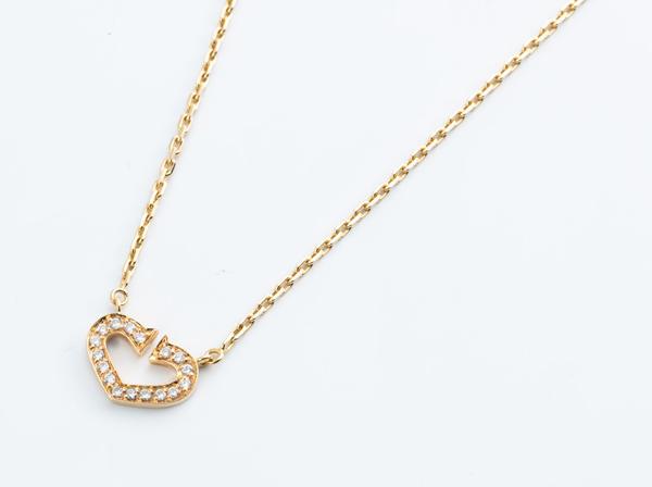 Cartier(カルティエ)K18YG/Cハート ダイヤモンドネックレス