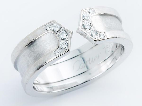 Cartier(カルティエ)K18WG C2 ダイヤモンドリング