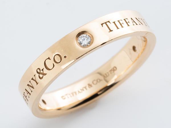 Tiffany & Co. (ティファニー) リング 750PG フラットバンドリング